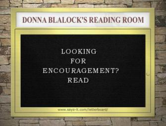 Donna Blalock's Reading Room